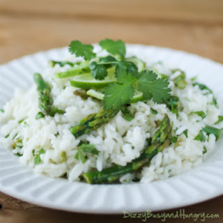 Cilantro Lime Asparagus and Rice