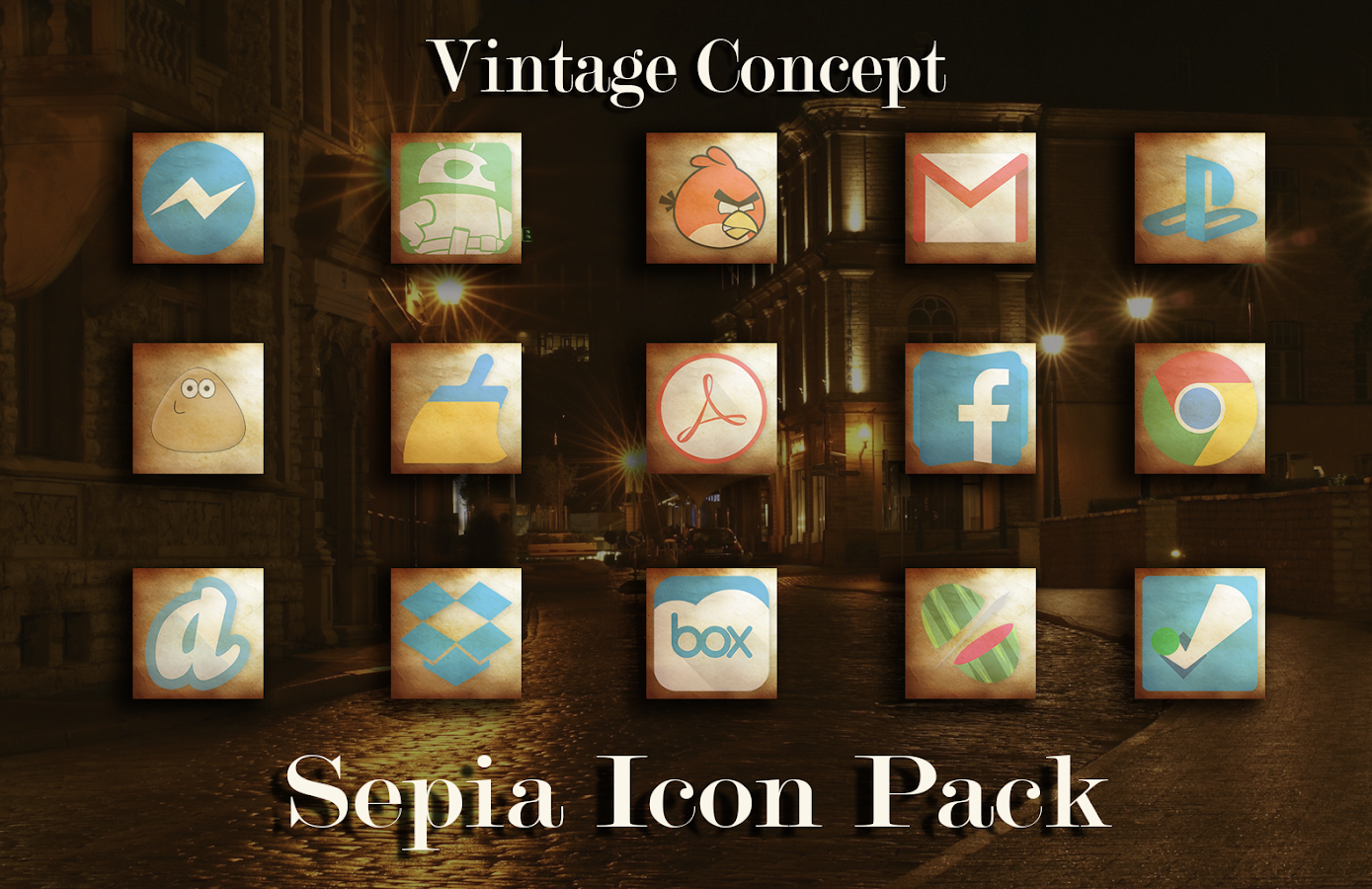 Sepia Theme Pack Multilauncher Screenshot 0