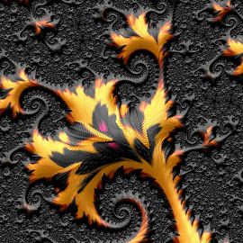 Leaf design by Capucino Julio - Illustration Abstract & Patterns ( brown, leaf, fractal, black, design )