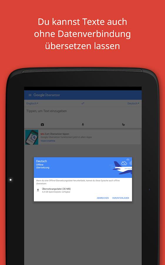 Google Übersetzer – Screenshot