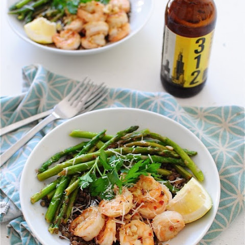 French Lentils with Lemony Shrimp and Asparagus