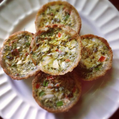 Mini Quiches, with asparagus and red pepper