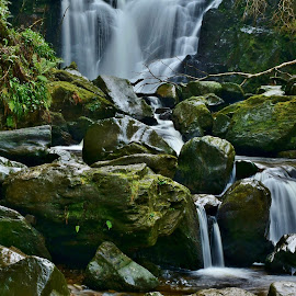 Torc Waterfall by Nik Hall - Landscapes Forests ( water, torc waterfall, ireland, killarney, waterscape, waterfall, long exposure )