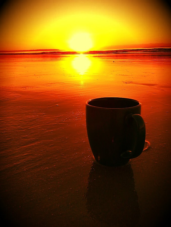 sunrise cup by David Pratt - Artistic Objects Cups, Plates & Utensils ( cup, up close, artistic, sunrise, beach, sun )