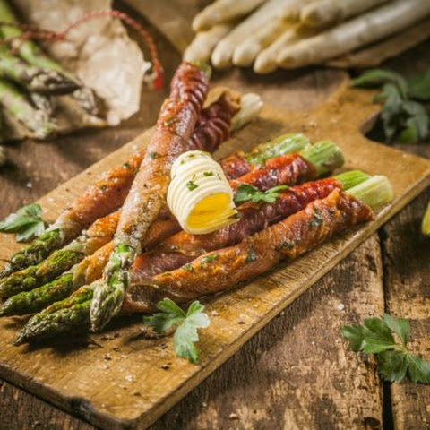 Salty Bacon Wrapped Asparagus