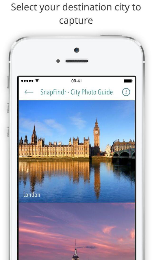 SnapFindr - City Photo Guide Screenshot