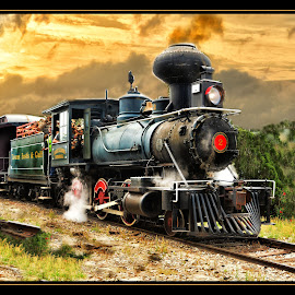 Orange Blossom Cannonball  by James Eickman - Transportation Trains (  )
