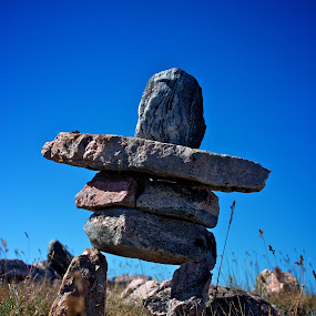 My Little Inukshuk by Dustin Wawryk - Artistic Objects Other Objects