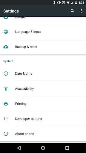 Google TalkBack screenshot 1