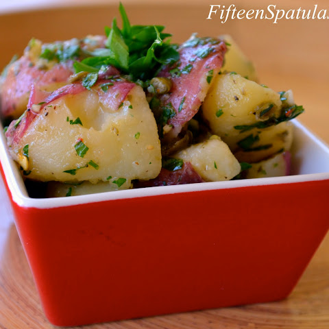 Salsa Verde Dressed Red Potato Salad