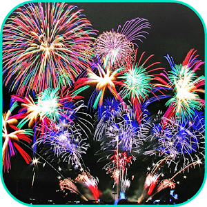 Night Fireworks Video Wallpape