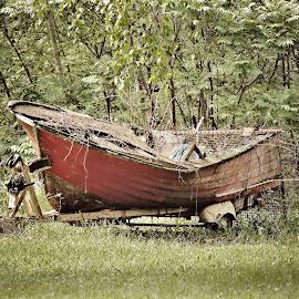 No fishing today. by Carolyn Kernan - Transportation Boats (  )
