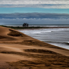 Dunes by Cristobal Garciaferro Rubio - Landscapes Deserts ( shore, clouds, dunes, sky, dune, sea )
