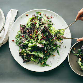 WINTER GREENS + CRISPY QUINOA SALAD