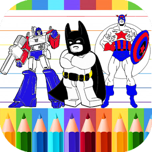 Superhero dc coloring book