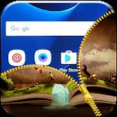 App Magic Book Zipper Lock Screen APK for Windows Phone
