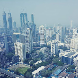 Mumbai Business District from 35th floor by Sanjoy Datta - City,  Street & Park  Skylines ( mumbai, urban, citylife, cityscape, skyline, metropolis, metro, urbanjungle, urbandensity )