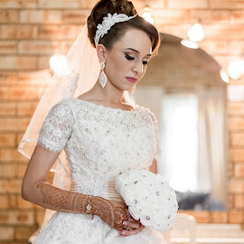 Reflecting  by Lodewyk W Goosen (LWG Photo) - Wedding Bride ( wedding photography, wedding photographers, brides, getting ready, wedding dress, love, forever, woman, wedding, weddings, wedding day, wedding photographer, bride )