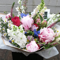 Country garden hand tied bouquet - The Florist Tunbridge Wells
