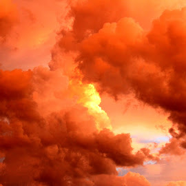Sky on fire by Mohammad Tajdolati - Landscapes Cloud Formations