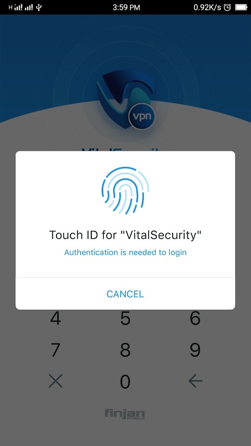 FinjanMobile VitalSecurity VPN Screenshot 2