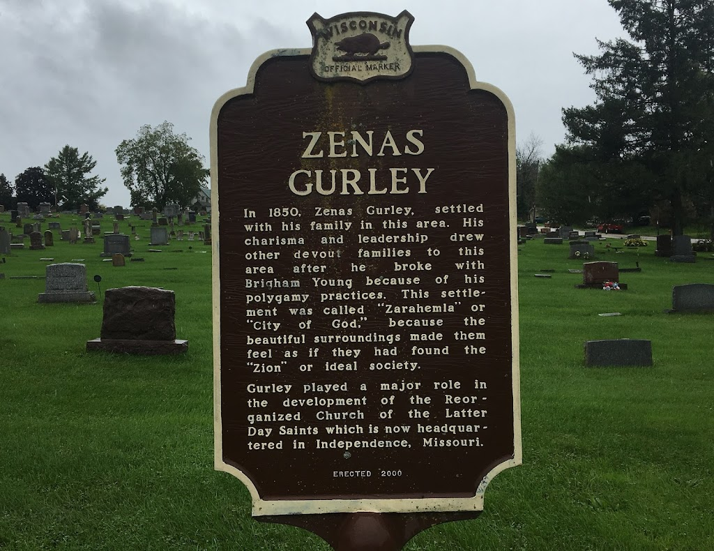 In 1850, Zenas Gurley settled with his family in this area. His charisma and leadership drew other devout families to this area after he broke with Brigham Young because of his polygamy practices. ...