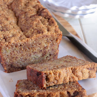 Caramelized Roasted Banana Bread with Oat Streusel