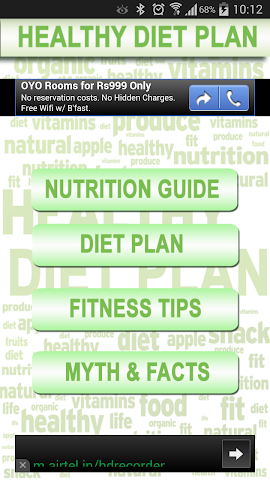 android Health Diet Nutrition Plan Screenshot 0