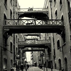 LONDON WAREHOUSES by Mike Tricker - City,  Street & Park  Street Scenes (  )