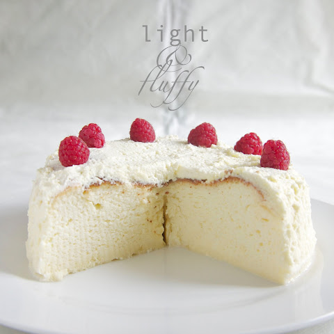Japanese Cheesecake with Rose Whipped Cream