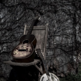 Sounds of the past by Tammy Arruda - Artistic Objects Musical Instruments ( roy rogers, guitar, banjo )