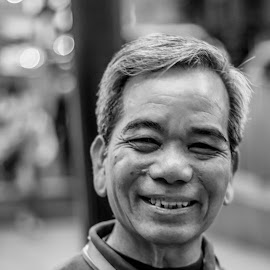 I have seen better days, but I still keep smiling. by Shereena Vysakh - People Portraits of Men (  )
