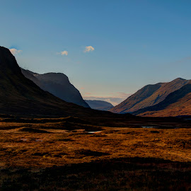 Light and Shade by Graham Hill - Landscapes Mountains & Hills ( scotland, mountains, glencoe, hdr, valley, glow, shade, sunlight, highlands, relax, tranquil, relaxing, tranquility,  )