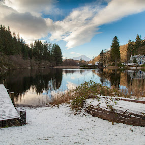 WInter Loch Ard, Scotland by Iain Cathro - Landscapes Waterscapes ( scotland, loch ard, winter, ben lomond, snow )