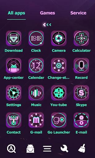 Fluorescent Go Launcher Theme - screenshot