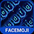 3D Hologram Neon Emoji Keyboard Theme