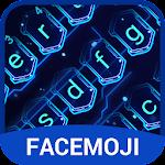 3D Hologram Neon Emoji Keyboard Theme Icon