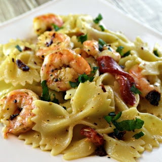 Shrimp And Zucchini With Bowties In Light Tomato Sauce Recipes ...