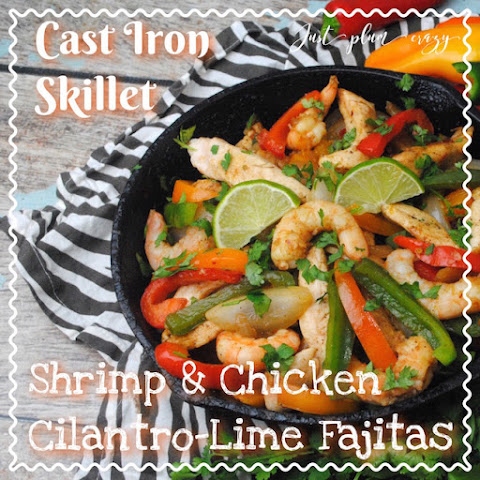 Cast Iron Skillet Shrimp and Chicken Fajitas Recipe!