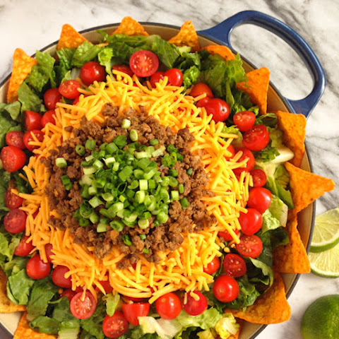 Jessica's Taco Salad with Creamy Taco Dressing