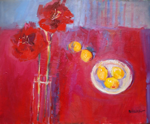 A Still Life with Amaryllis Oil 30x26""
