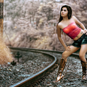 .: The Girl in RailRoad :. by Garenk Ulunger - People Fashion ( fashion, girl, railroad )