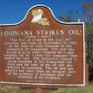 The first oil strike in the State of Louisiana was made on September 21, 1901 on the farm of Jules Clement in the community of Evangeline. The well was known as both Jules Clement No. 1 and Jennings ...