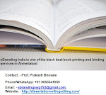 eBranding India is one of the black best book printing and binding services in Ahmedabad