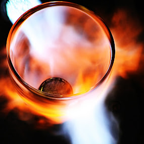 Glass and fire by Marco Caciolli - Artistic Objects Glass ( glass, artistic, job, fire )