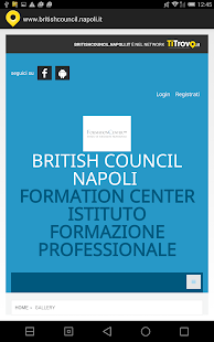 British council Napoli - screenshot