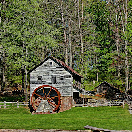 Hacker Martin Gristmill by Larry Smith - Buildings & Architecture Public & Historical ( mill, grist mill, old 1790s, historic, hacker martin gristmill,  )