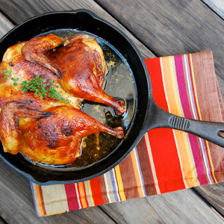 Black-Ale Marinated Spatchcocked Chicken