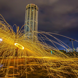 KOMTAR, Penang by Lim Keng - Abstract Light Painting