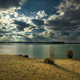 Dramatic clouds by Lucie Amnezie - Landscapes Waterscapes ( water, hdr, dramatic clouds, beach, sun )